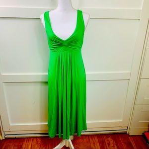 Jcrew Empire waist maxi dress and green